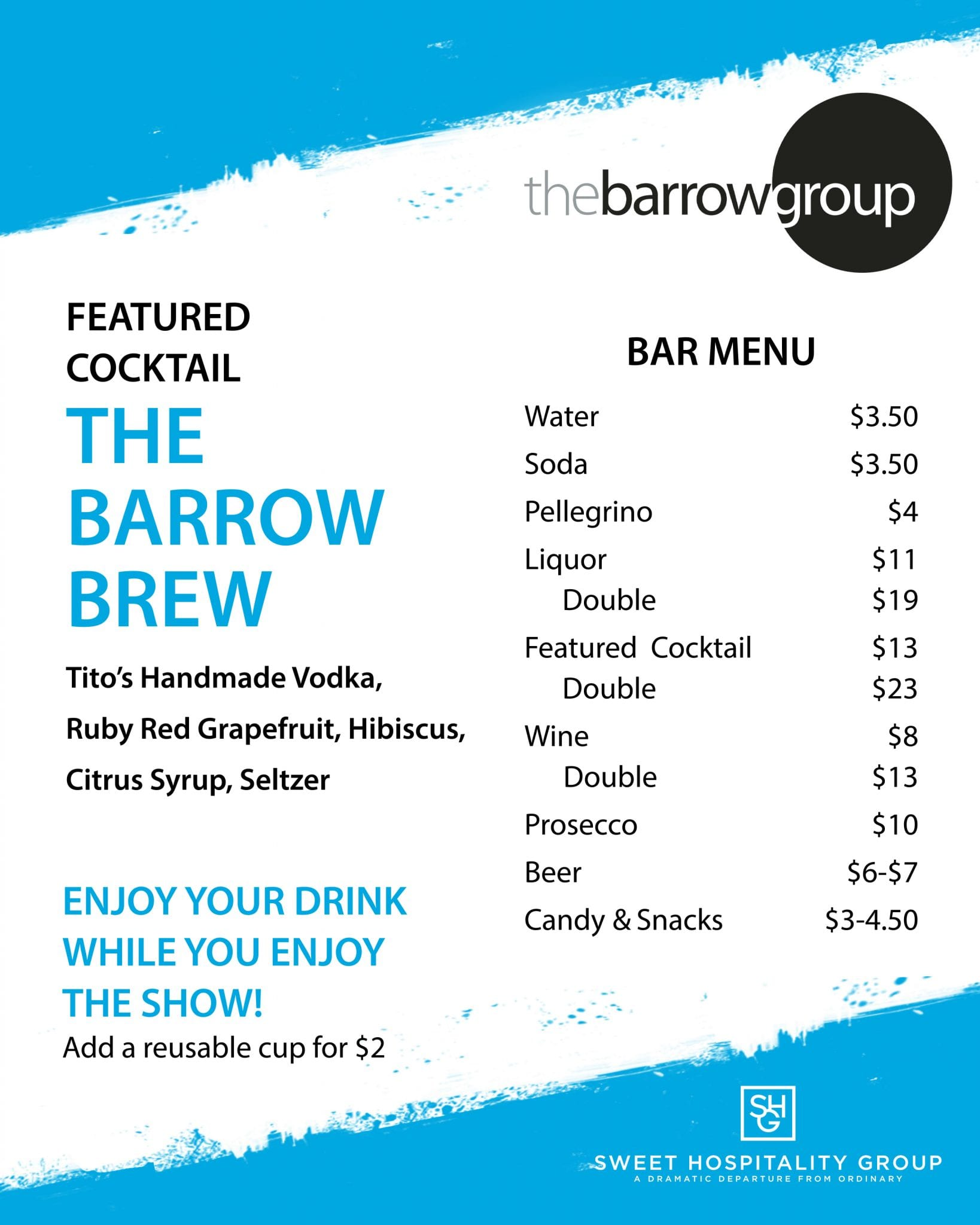 Concessions Menu for The Barrow Group