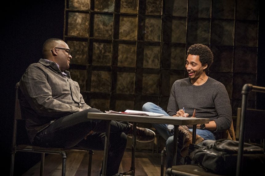 K. Lorrel Manning and Eddie K. Robinson in AWAKE, The Barrow Group, 2019. Photo by Edward T. Morris.